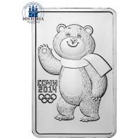 Rußland 3 Rubel 2012 Silber stgl. Polar-Bär  Zur Olympiade in Sotschi