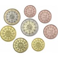 Portugal 1 Cent bis 2 Euro 2013 bfr. lose im Münzstreifen