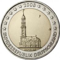 2 Euro Münze von 2008 Hamburger Michel Fehlprägung Mzz. F