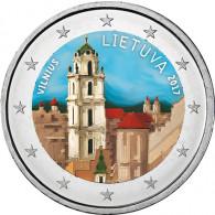Farbmuenze Litauen 2 Euro 2017 bfr.  Vilnius - Stadt der Kultur und Kunst