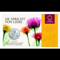 Österreich-10-Euro-Silber--Gedenkmünze-2021-Rose-hgh-Folder-III