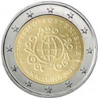Jahr des Nachhaltigen Tourismus 2 Euro Münze aus San Marino