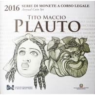 KMS Kursmünzen Italien 5,88 Euro 2016 inkl. 2 Euro Plauto