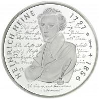 Deutschland 10 DM Silber 1997 Stgl. 200. Geburtstag von Heinrich Heine