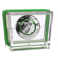 Neue 5 Euro Sammlermünze 2019  Gemäßigte Zone Polymering Grün Feldhase