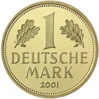 Deutschland 1 DM 2001 stgl. Goldmark Mzz. Historia Wahl