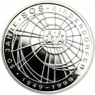 Deutschland 10 DM Silber 1999 PP 50 Jahre SOS Kinderdörfer Mzz. unserer Wahl