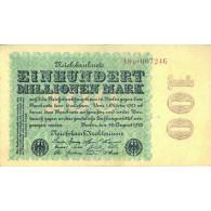 Banknoten 100 Millionen Reichsmark Rosenberg