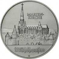 J.1627 - DDR 5 Mark 1989 - Marienkirche in Mühlhausen