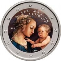 2 Euro Sondermünzen Farbmotiv veredelt San Marino Lippi bestellen