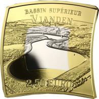 Luxemburg 2,5 Euro Gedenkmünze 2018 Wasserkraftwerk Vianden