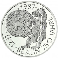 Deutschland 10 DM Silber 1987 Stgl. 750 Jahre Berlin