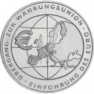10 Euro Silber 2002 Gedenkmünze Währungsunion