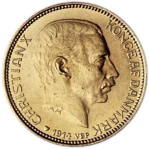 Dänemark-20-Kronen-1913---1931-König-Christian-X-I