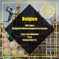 Belgien 3,88 Euro 2013 bfr. KMS - Sondersatz mit 2 € Metrologisches Institut im Folder
