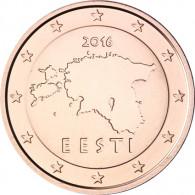 Kursmuenze  Estland 2 Cent 2016 bfr. Landkarte