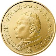 VatikanKursmünzen 50 Cent 2002 Stgl. Papst Johannes Paul II