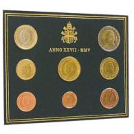 Vatikan 3,88 Euro Münzen 2005 KMS Papst Johanes Paul II im Folder bestellen