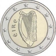 Euromuenzen aus Irland mit Harfe