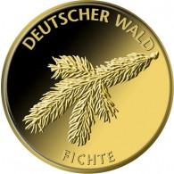 Fichte Goldmünze Deutscher Wald serie