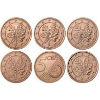 eutschland 5 x 5 Cent 2014 Mzz A - J  Kursmünzen komplett Satz
