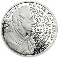 Deutschland 10 DM Silber 1999 PP Johann Wolfgang von Goethe Mzz. unserer Wahl