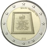 """Malta 2 Euro 2015 stgl. Parlamentarische Republik"""" mit Münzmeisterzeichen -  in Kapsel mit Zertifikat"""