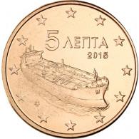 Griechenland 5 Cent 2015 Hochseetanker in bester bankfrischer Sammlerqualität