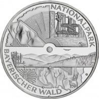Deutschland 10 Euro Silbermünzen  2005  Nationalpark Bayrischer Wald