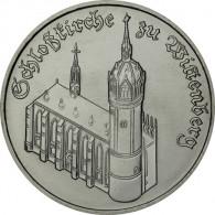 DDR 5 Mark Schlosskirche Wittenberg Gedenkmuenze