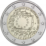 Deutschland 2 Euro 2015 bfr. 30 Jahre Europa Flagge Mzz. F