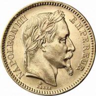 AV Frankreich 20 Francs Napoleon III mit Kranz