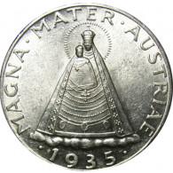 Oesterreich 5 Schilling Silber  1934/35  Madonna von Mariazell