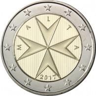 2 Euro Kursmünzen aus Malta 2017 Mzz. F