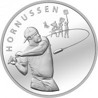 Silbermünzen 20 Schweizer Franken Hornussen