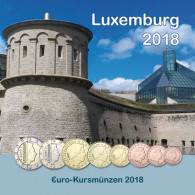 Luxemburg 3,88 Euro Kursmünzen 2018 Sonderediton im Folder
