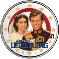 Luxemburg-2-Euro-2021-Hochzeitstag-Reliefprägung-Farbe