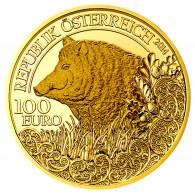 wildschwein 100 Euro gold Österreich