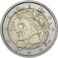 2 Euro Kursmünzen aus Italien aus 2014