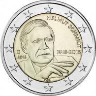 Sammlermuenzen 2 Euro Helmut Schmidt 2018