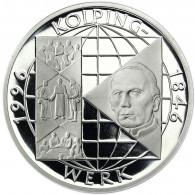 Deutschland 10 DM Silber 1996 PP 150 Jahre Kolpings Werk