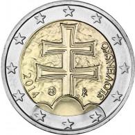 Slowakei 2 Euro 2014 Doppelkreuz