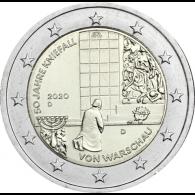 Deutschland-2-Euro-2020-Kniefall-von-Warschau-D-stgl