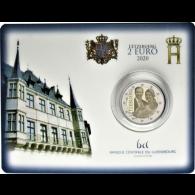 Luxemburg-2-Euro-2020-Prinz-Charles-Mzz-Löwe-Coin-Card-I