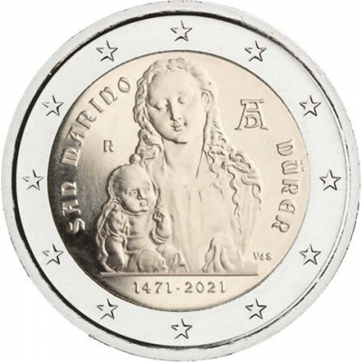 San-Marino-2-Euro-2021-Dürer-I