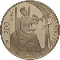 200 Euro Gold Vatikan 2018  Die Kardinaltugenden - die Mäßigung