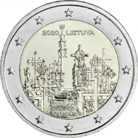 Litauen-2-Euro-2020-Berg-der-Kreuze-I