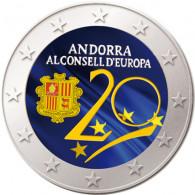 Andorra 2 Euro 2014 bfr.  20. Jahrestag zum Beitritt in den Europarat FARBE