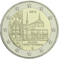 - Deutsche Bundesländer 2 Euro Sondermünzen - Baden Württemberg mit dem Kloster Maulbronn.