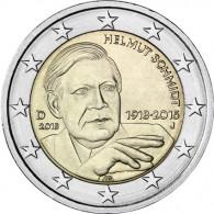 2 Euro Gedenkmünze 2018 Helmut Schmidt